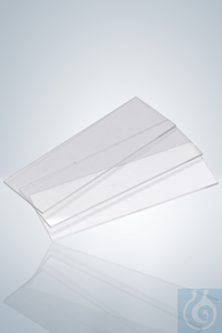 Microscopic slides,  extrawhite, 76x26 mm, ground edges 90° Microscopic slides, extrawhite, 76 x...