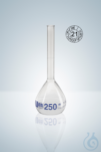 Volumetric flask DURAN®, cl.A, blue grad,  10000:2 ml, H 570 mm Volumetric flasks DURAN®, class...