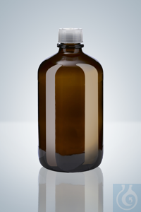 Amber glass bottle, 2500 ml , for opus®, ceramus® & solarus® Amber glass...