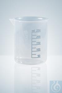 Griffinbecher, PP, gedruckte blaue Skala,  2000 ml transparent Griffinbecher, PP, mit gedruckter...