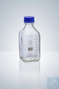 4Artículos como: Frasco cuadrangular, DURAN®, GL 32,  100 ml, altura 109 mm, ø 50 mm Botella...