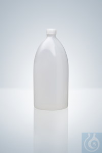Narrow neck bottle, PE-LD, natural, 10 ml, height 45,5 mm, GL 14, Ø 26 mm...