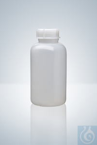 Wide neck bottle, PE-LD, natural, 20 ml, height 53 mm, GL 25, Ø 32 mm Wide...