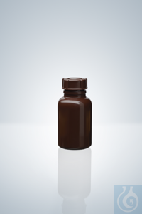 Wide neck bottle, PE-LD, amber, 50 ml, height 77 mm, GL 32, Ø 40 mm Wide neck...
