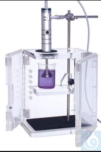 Schallschutzbox aus Acrylglas, mit zerlegbarer Stativstange Ø16mm, mit...