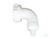 Bocht voor slang, met overwerpmoer, wit M42 Bocht voor slang, met overwerpmoer, wit M42