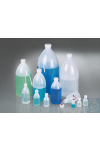 Narrow-necked bottle, LDPE transp., 20 ml, w/ cap Packing bottle 20 ml LDPE transparent, with...