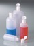 Round bottle 250 ml, HDPE with hinged lid