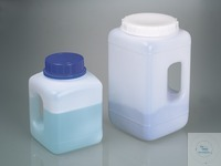 Wide-mouth container w/handle, HDPE, 2300ml, w/cap Wide neck jar 2500ml, w. handle