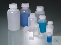 Wide-necked bottle, LPDE, round, 2000 ml, w/ cap Wide-neck bottle 2000ml, LDPE, transparent, w....