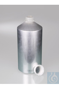 Aluminium bottle, UN, AL 99.5, 5600 ml w/ cap Aluminium bottles 5600ml with PP-screw cap...