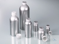 Aluminium bottle, UN, AL 99.5, 1200 ml w/ cap Aluminium bottles 1200ml with PP-screw cap...