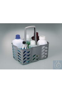 Bottle carrier for 6 bottles up to max. 95 mm Ø For 6 bottles up to max. 95 mm Ø.   PP  Suitable...