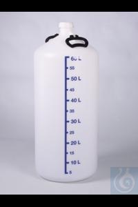 Vorratsflasche o. Gewindestutzen, HDPE, 60 l, m.V. Besonders dickwandige,...