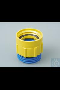 Schroefdraad adapters PP uitwendig/inwendig 64 mm (BSI) - DIN 61 Wij bieden...