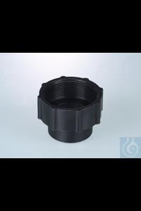 """Thread adapter 40mm inner - 2"""" BSP inner, black Thread adapter 40mm inner -..."""