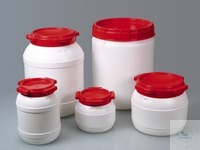 Disposal keg, wide-mouth, HDPE, UN, 3,5 l, w/ cap Wide-necked container for disposal or storage...