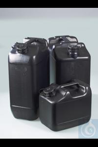 Electr. conductive canister, HDPE, UN, 20l, w/ cap Canister made of electrically conductive HDPE...