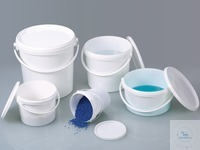 Packaging bucket, PP white, 5 l, w/ closure Packaging bucket for transport, packaging and storing...