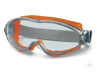 Safety goggles UltraVision, orange Anti-fog lens, suitable for wearers of glasses, with...