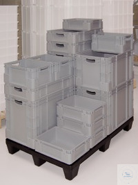 Storage and stacking container, 400x300x120mm, 11l Stable storage containers made of durable PP...