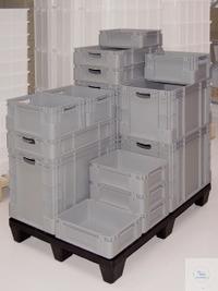 Reservoir d.stock., empil.,Lxlxh 400x300x120mm,11l Réservoir de stockage robuste en PP robuste...