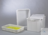 Universal storage container, 660x450x130 mm, 29 l Practical storage containers with closed...
