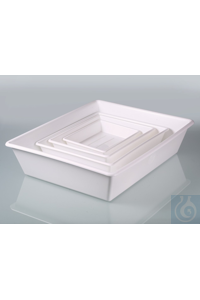 Laboratory trays/spill throughs set (4pcs.0,5-10l) Laboratory bowl Set smal, white, PP consisting...