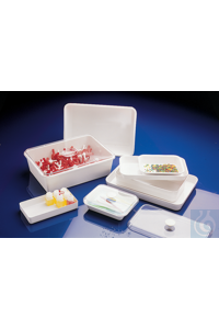 Instrument tray, melamine white, 5500 ml Trays for various uses: in laboratories, doctors'...