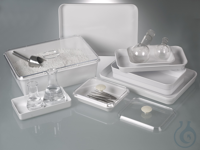 Instrument tray, melamine white, 500 ml Trays for various uses: in laboratories, doctors'...