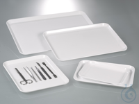 Instrument server, melamine, LxWxH 190x150x17 mm Instrum.-tablet, 190x150x17mm white, melamine...