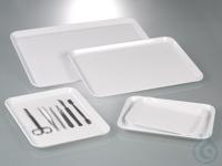 Instrumententablett, Melamin, LxBxH 355x240x17 mm Tabletts für vielseitigen Einsatz – überall...