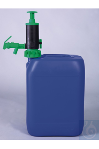 PumpMaster acids/ chemical liquids, FKM, green PumpMaster canister and barrel pump for acids and...