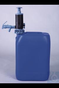 PumpMaster liquides pétro., PP/caoutchouc nitrile PumpMaster, pompe pour bidon et vide-fût pour...