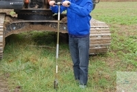 Mole handle with bar 75cm Sampler Mole The soil sampler made from iron consists of 3 parts: a...