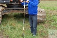 Handle with rod, w/o drill bit, 75 cm, Mole Mole handle with bar 75cm   Sampler Mole The soil...