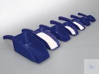 Detectable scoops, blue, PS, sterile, 500 ml Detectable SteriPlast® scoops, made of blue...