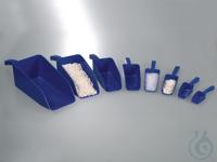 Food scoops, blue, PS, sterile, 25 ml SteriPlast Food scoop, PS blue, 25ml, length 141mm, pack of...