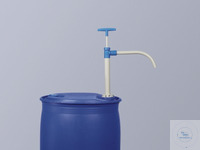 PP barrel pump w/discharge tube, 65 cm, 230ml/str. PP barrel pump with rigid discharge tube....