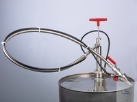 Gas-tight barrel pump V2A w/hose, imm. depth 91 cm Barrel pump, stainless steel, 910 mm with...
