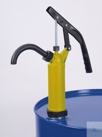 Lever pump, yellow, stainless steel pump rod Lever pump, yellow, Piston rod stainless steel