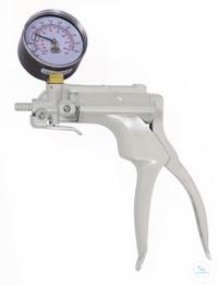 VacuMan Druck-u. Vakuumpumpe, mit Manometer, PVC Mit Manometer  Adapter-Set für Schläuche von 5...