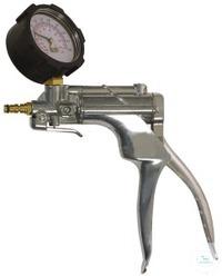 VacuMan Druck-u. Vakuumpumpe, mit Manometer, Alu Mit Manometer  Adapter-Set für Schläuche von 5...