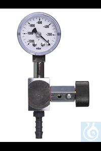 AirJet Mini fijnregelventiel met manometer AirJet Mini fijnregelventiel met...