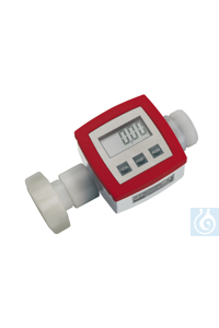 Flow meter, PVDF/Hastelloy C4/FKM, G 1 1/4