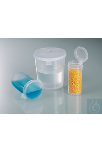 Sample boxes, aseptic, PP, 50 ml, flip-top closure Sample jar 50 ml, PP