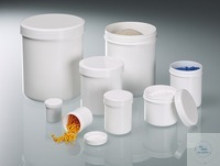 Screw cap tube, PP white, 625 ml, ØxH 90x113 mm Shapely packing container with screw cap....