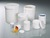 Screw cap tube, PP white, 125 ml, ØxH 52x67 mm Shapely packing container with screw cap. Emptying...