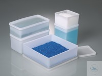 All-purpose box square, PE, 3200ml, L:208mm, w/cap Box for storing, packing, taking samples,...