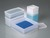All-purpose box square, PE, 500ml, L:103 mm, w/cap Box for storing, packing, taking samples,...